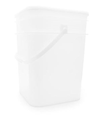 Picture of 15 Litre Square natural Space-saver Pail