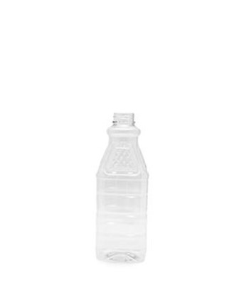 Picture of 1000ml Square Clear Diamond Top TE Bottle