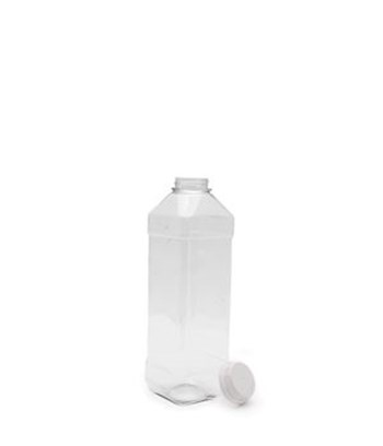 Picture of 1000ml Square Clear TE Bottle