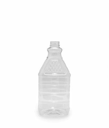 Picture of 2000ml Square Clear TE Diamond Top Bottle