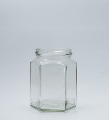 Picture of 288ml Hexagonal Glass Jar