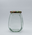 Picture of 385ml Oval Facetted Glass Jar