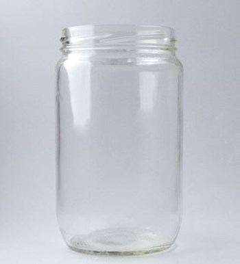 Picture of 720ml Tall Round Glass Jar