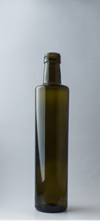 Picture of 500ml Round Green Dorica Glass Bottle