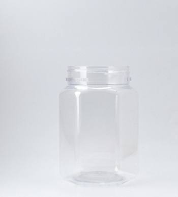 Picture of 400ml Hexagonal Clear TE Jar
