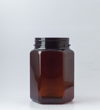Picture of 400ml Hexagonal Amber TE Jar