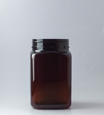 Picture of 400ml Square Amber TE Jar