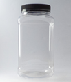 Picture of 1000ml Square Clear TE Jar