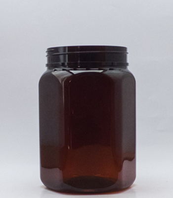 Picture of 750ml Hex Amber PET TE Jar