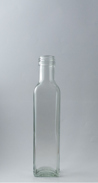 Picture of 250ml  Square Marasca Clear Flint Glass Bottle