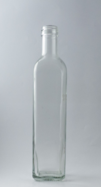 Picture of 500ml Square Marasca Glass Bottle