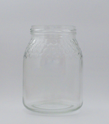 Picture of 746ml Round Honey Comb Glass Jar
