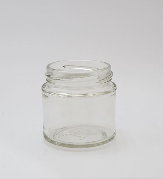 Picture of 125ml  Panelled Round Glass Jar